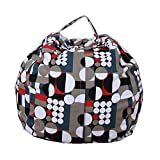 EXTRA LARGE Stuffed Animal Storage Bean Bag Chair with Extra Long Zipper, Carrying Handle, Large Size at 32'', 100% Sturdy Cotton. Excellent Solution for Toys and Clothes, Available For Boys And Girls