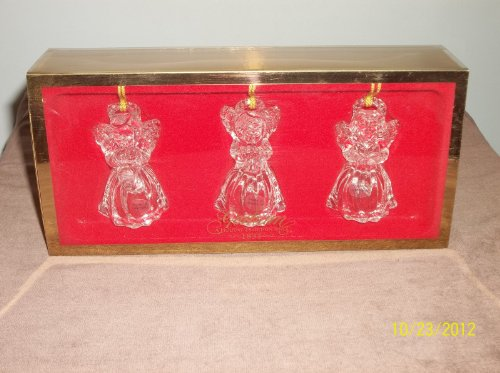 3 Angel Ornaments/full Lead Crystal