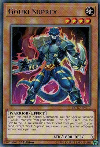 Gouki Suprex - COTD-EN010 - Rare - 1st Edition - Code of the Duelist