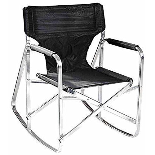 Ming's Mark 24'' x16.1''Dx16.5''H Folding Rocking Director's Chair w/ Flat aluminum frame in Black by Ming's Mark