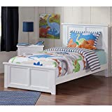 Atlantic Furniture 77 in. Eco-friendly Twin XL Bed in White Finish