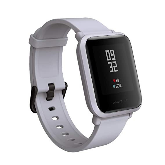 f139b66de Amazon.com: Amazfit BIP smartwatch by Huami with all-day heart rate and activity  tracking, sleep monitoring, GPS, 30-day battery life, Bluetooth (White ...