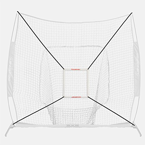 PowerNet Strike Zone Attachment For 8x8 Baseball Softball Net | Work on Pitching Drills and Location Accuracy | Solo or Team Pitcher Training Aid | Instant Feedback on Strikes or Balls Location