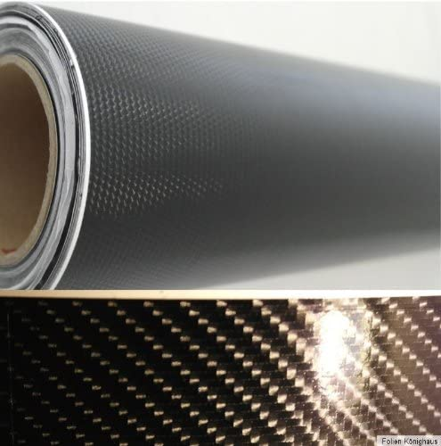 Könighaus 9 21 M2 4d Carbon Schwarz Folie 200 X 152 Cm Blasenfrei Mit Anleitung Autofolie Auto