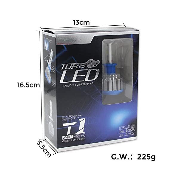 Win Power Headlight LED CREE Bulbs Conversion Kits Canbus 1 Pair 2 Year Warranty