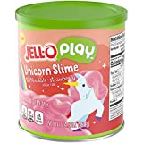 JELL-O Play Slime Mix, Unicorn Strawberry, 14.8 Ounce Canister