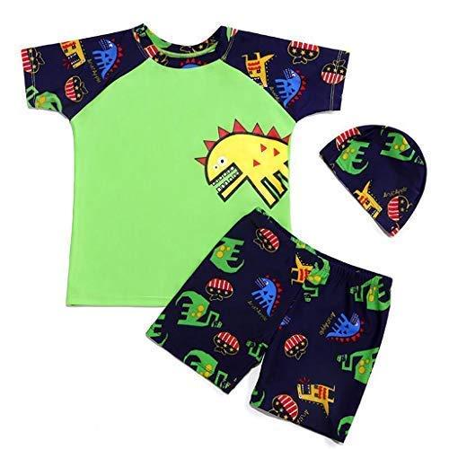 d115ded9e Mitlfuny Verano Conjuntos de Surf Traje de Baño 3 Piezas Manga Corta  Bañador Camisetas Pantalones Cortos