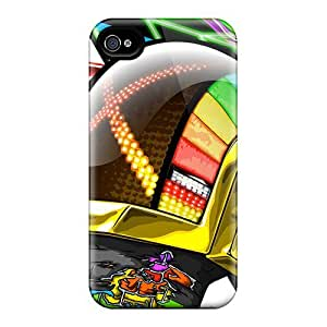 For Iphone 4/4s Premium Tpu Case Cover Daft Punk Protective Case
