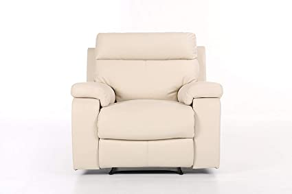 Amazon.com: Halter Bonded Leather Recliner Sofa Chair - Modern ...