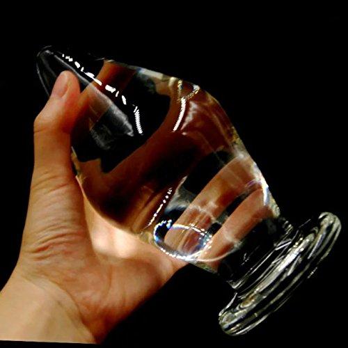 Extra large glass dildo came
