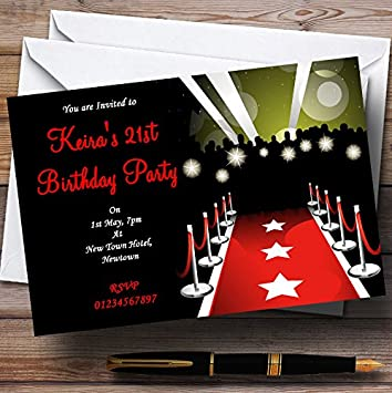 Vip Red Carpet Personalised Party Invitations Amazoncouk Toys Games