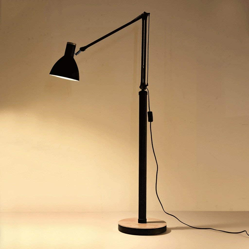 einfache Pers/önlichkeit dekorative Beleuchtung LDD Moderne Schaukelstuhl Holz Stehlampe Schlafzimmer//Wohnzimmer Studie Stehlampe,Schwarz