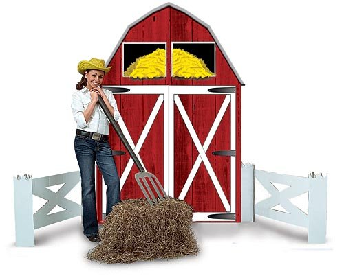 - Big Red Barn Farm Party Photo Prop Decoration Standee Standup Cut Out
