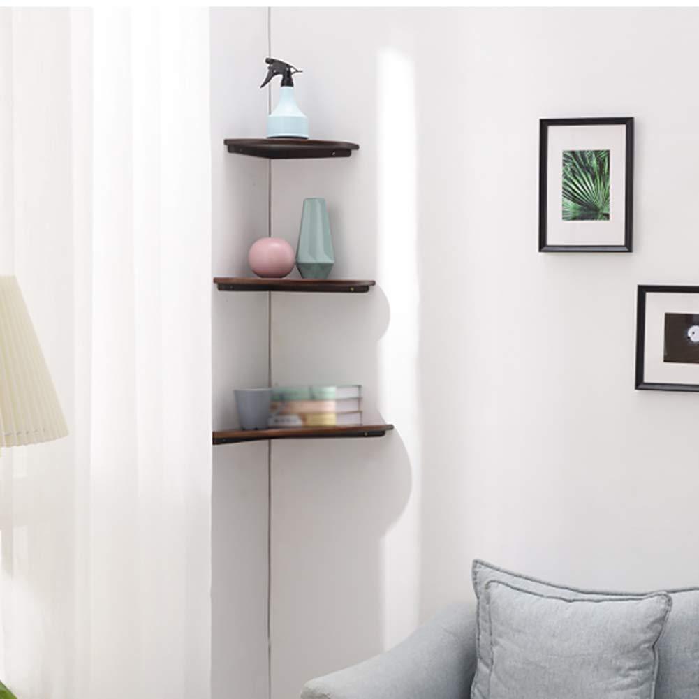 2 Colori 6 Dimensioni DH QIANGBI Il ripiano angolare sospeso a Parete a Scomparsa Mostra la Camera da Letto dellorganizzatore in Legno a Un Piano Moderno
