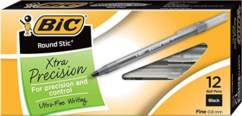 BIC Round Precision Ballpoint 12 Count