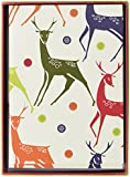 Nouvelles Images Holiday Boxed Note Card Set, Christmas Background with Deer (XDB 489)