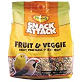 Higgins Snack Attack, Fruit and Veggies Small Bird Treat, 10-Ounce Bag, My Pet Supplies