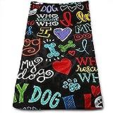 Best Brookstone Bath Towels - CHJOO Towel Animal Novelty I Love My Dog Review