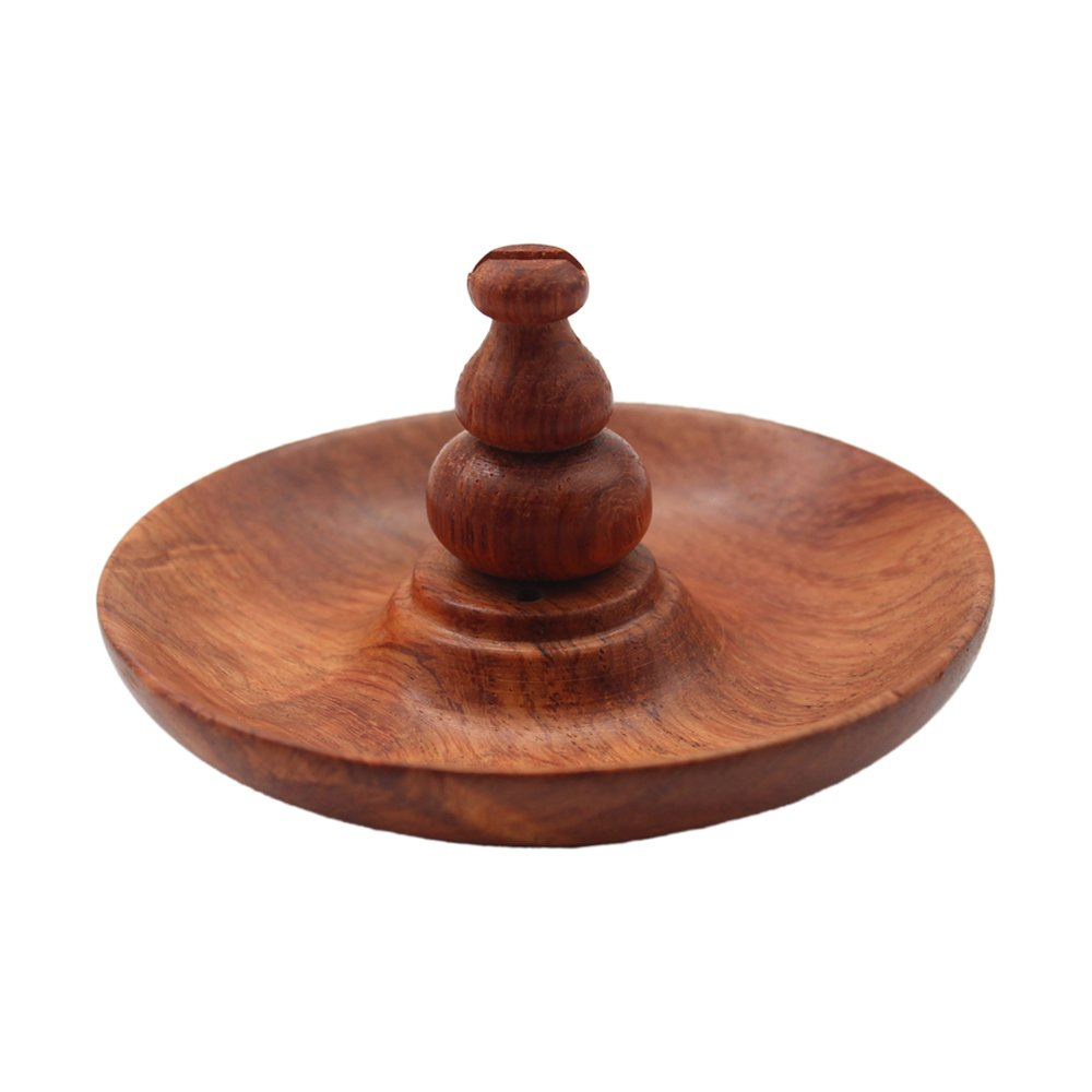 Handmade Wood Buddhism Base Incense Burner Holder for Cones & Coil other