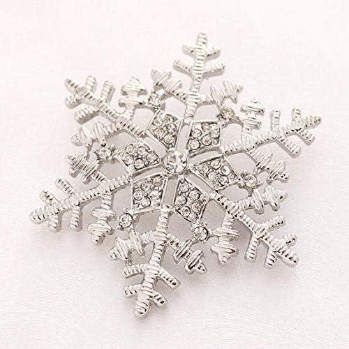 CHOROY Christmas Brooch Pin Crystal Christmas Tree Charm Brooch Holiday Jewelry Snowflake Jewelry Xmas Gift
