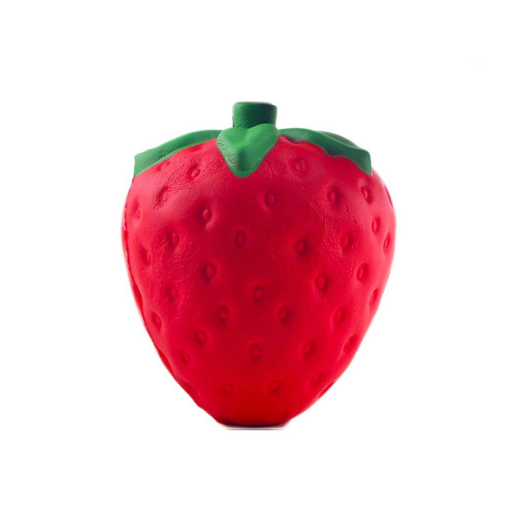 "1 Pcs Jumbo 4.7"" Kawaii Squishy Strawberry Slow Rising Squishy Charms Stress Relief Toy"