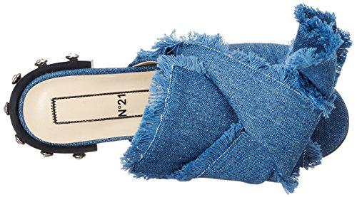 Mujer cuña 1 8205 DENIM con N°21 3 Sandalias BLU Blau fXqIg1xw5