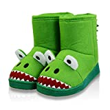Kids Winter Warm Slip-on Cute Cartoon Unicorn Anti-Slip House Shoes Slippers Boots Size Toddler 9 US Monster