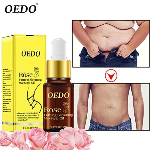 KCPer 1PC Essence Rose Firming Slimming Massage Oil Liquid Slimming Body Block 10ML