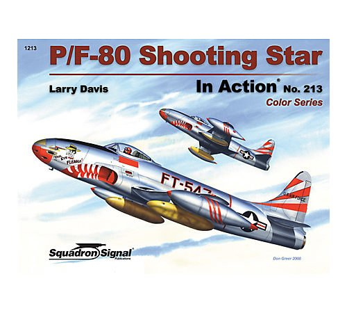 P/F-80 Shooting Star in Action - Color Series Aircraft, used for sale  Delivered anywhere in USA