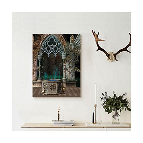Liguo88 Custom canvas Gothic House Decor Wall Hanging Mystic