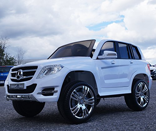Price comparison product image Kids Ride On Car 12v Ride on Car Mercedes GLK 300 Series,  Licensed Toy for Kids,  Boys and Girls with Music,  Lights - WHITE Paint Ride on power wheel Ride on Power Wheels Led lights Ride On Toy