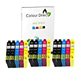 Colour Direct 15Compatible Ink Cartridges Replacement for Epson Work Force WF-3620DWF WF-3640DTWF WF-7110DTW WF-7610DWF WF-7620DTWF Printers