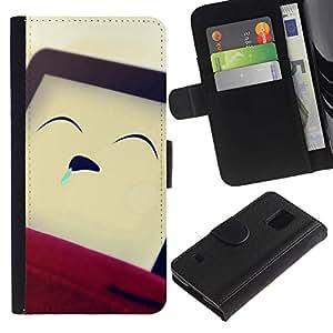 All Phone Most Case / Oferta Especial Cáscara Funda de cuero Monedero Cubierta de proteccion Caso / Wallet Case for Samsung Galaxy S5 V SM-G900 // Funny Sleeping Man