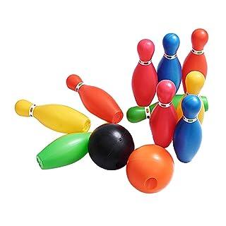 YeahiBaby 12pcs Birilli Bowling Set Colorato per Bambini Bowling Giocattoli di Sport Bocce