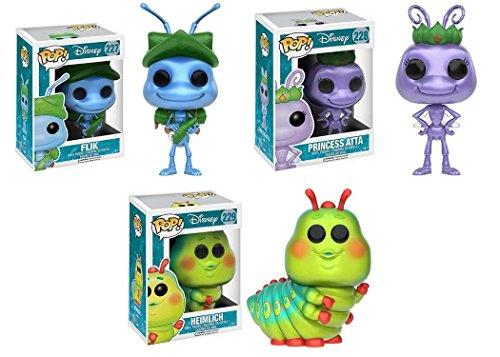 Pop!: Disney - A Bug's Life Flik, Princess Atta, and Heimlic