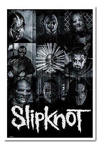 Slipknot Masks Official Poster Cork Pin Memo Board White Framed - 96.5 x 66 cms (Approx 38 x 26 inches)]()