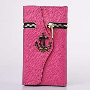 ZX Corsair Wallet PU Leather Full Body Case for SAMSUNG GALAXY S5 I9600(Assorted Colors) , Rose