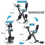 Profun-Cyclette-pieghevole-da-fitness-10-livelli-di-resistenza-magnetica-e-sedile-ampio-e-confortevole-bicicletta-per-esercizio-da-interni-supporto-per-tablet-e-monitor-digitale