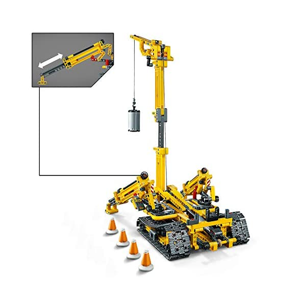 LEGO - Technic Gru Cingolata Compatta, Ricostruibile a Torre Compatta, Set di Costruzioni 2 in 1, 42097 2 spesavip