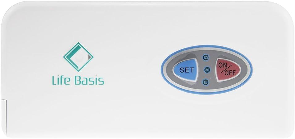 LifeBasis Máquina de Generar Oxígeno Ozono Generador Concentrador Concentración Ozonizador Purificador Ionizador Doméstico Hogar Portátil de Vida Saludo: Amazon.es: Salud y cuidado personal