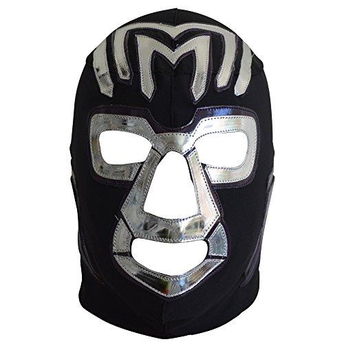 Deportes Martinez Mil Muertes Lycra Lucha Libre Wrestling Mask Adult Luchador Mask Costume Wear Pro Black and Purple by Deportes Martinez