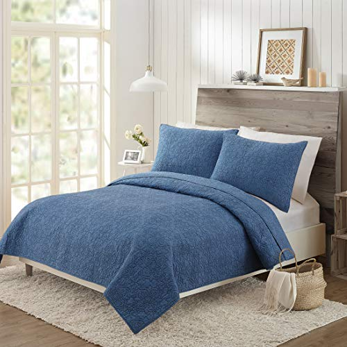 Mary Jane's Home Darling LACE Coverlet, King, Denim (Bedding Jane Mary)