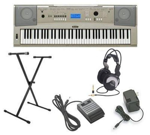 Yamaha YPG-235 5pc Ultra-Premium Keyboard Package With Headphones, Stand, Sustain Pedal and Power Supply (Yamaha Ypg 235 Stand compare prices)