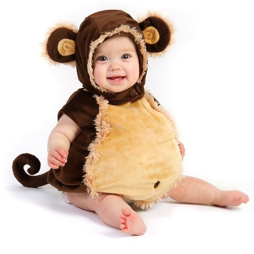 [Princess Paradise Baby's Melvin The Monkey Deluxe Costume, As Shown, 6 to 12 months] (Child Monkey Costumes)