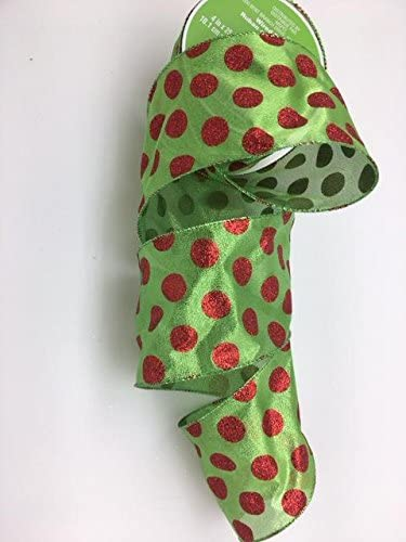 """Celebrate It Green Ribbon Bow-Tique Wired Ribbon 1.5/"""" x 25ft New"""