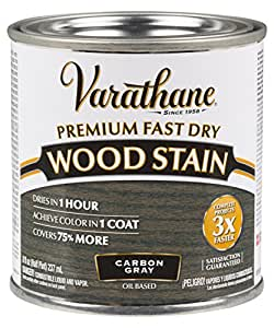 varathane 307416 premium fast dry wood stain 1 2 pint carbon gray
