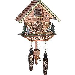 Trenkle Quartz Cuckoo Clock Swiss house with music TU 489 QM