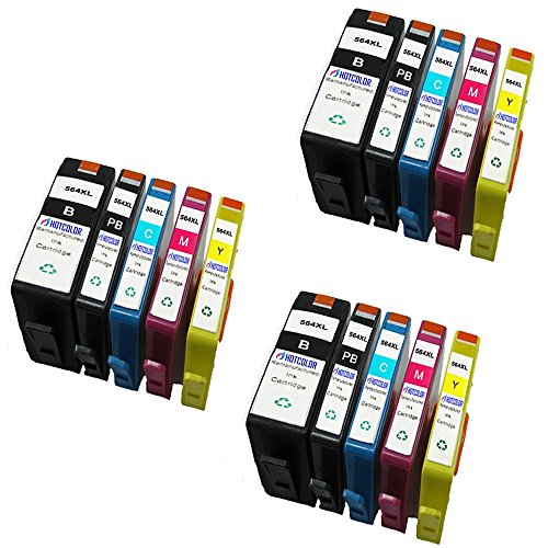 HOTCOLOR 15 Pack Value Bundle Ink cartridges Replacement for 564XL Set of 15 ink Cartridges For use in the following Photosmart B8500, B8550, B8553, B8558, C309, C309a ect.