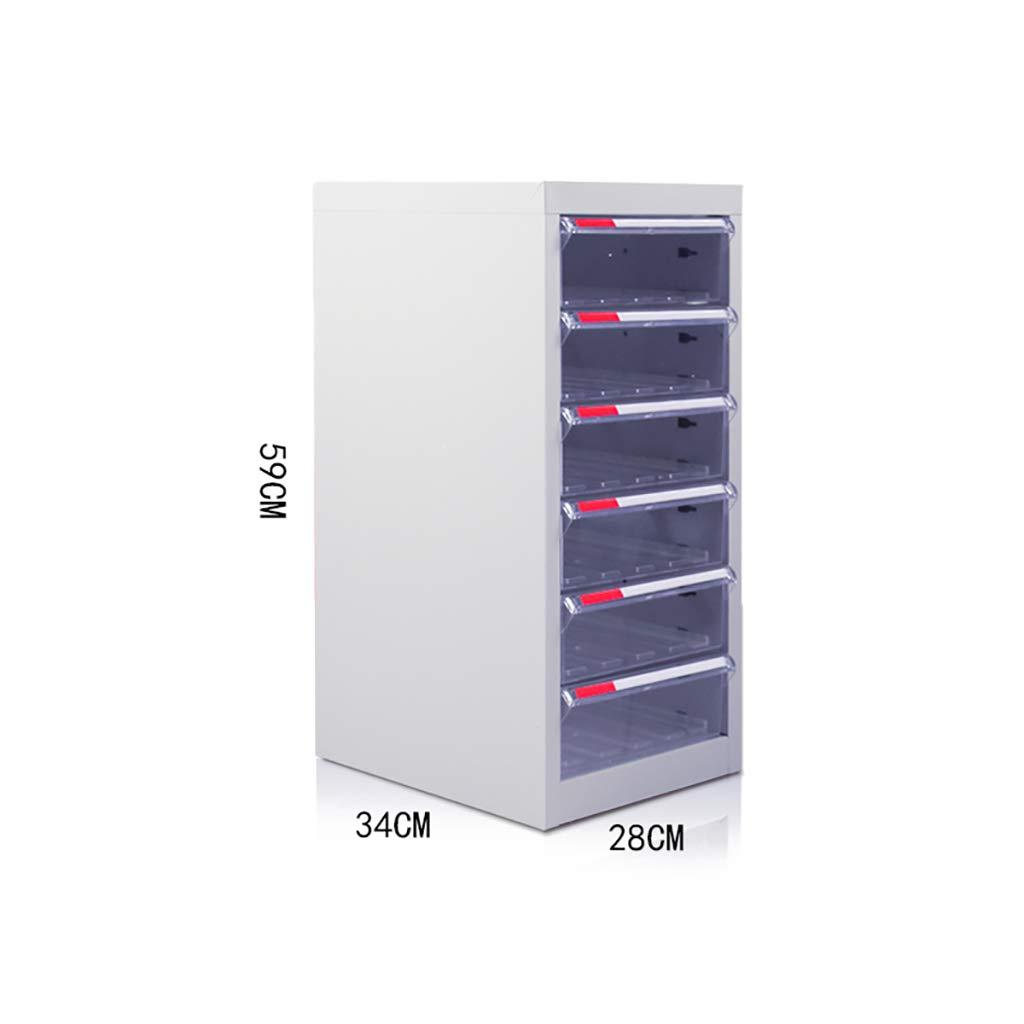 File Cabinet, Desktop Extended Drawer Office Organizer(Steel Plate) 283459CM (Size : 6)