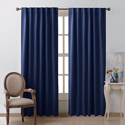 door panel curtains double rod - 4